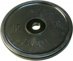 Диск обрезиненный евро-классик 15 кг Barbell MB-PltBE-15